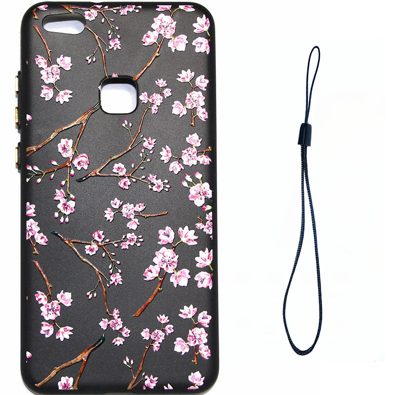 3D Relief flower silicone huawei P10 lite (2)