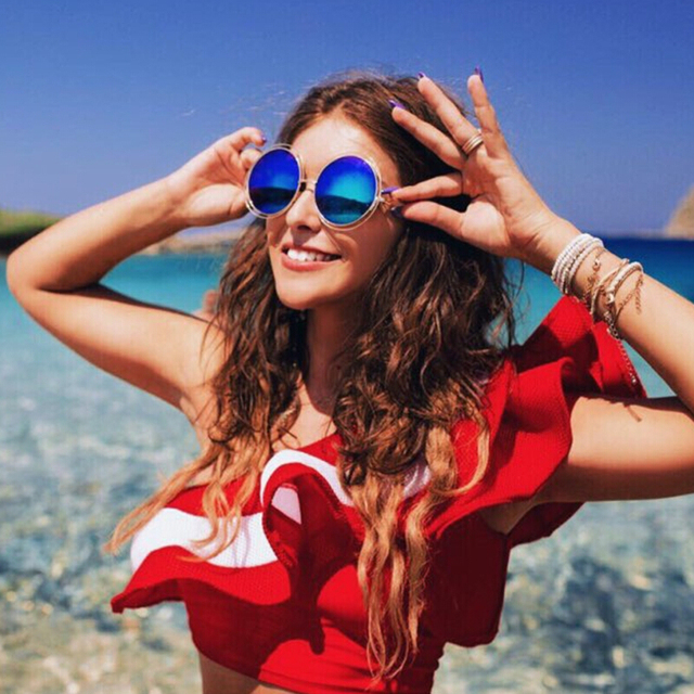 2ace84f3b3f 2017 Oversized Round Sunglasses Fashion Women Large Size Big Retro Mirror  Sun Glasses Lady Female Vintage Brand Designer UV400