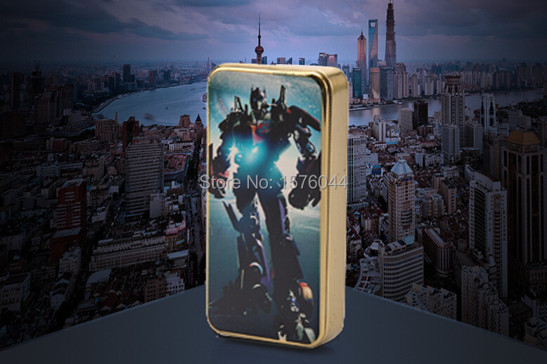 E4086 new creative windproof lighter Transformers silent ultrathin rechargeable font b electronic b font font b