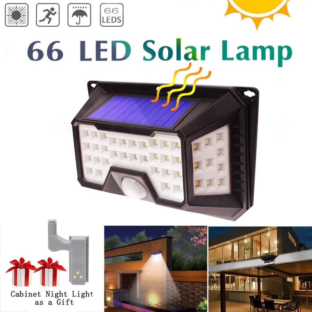 Lampión de pared de emergencia con Sensor de movimiento de lámpara Solar impermeable para decoración de jardín