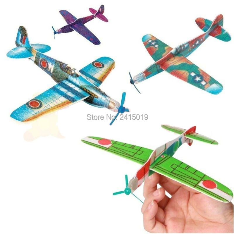 Free ship Wholesale 1000pc polystyrene world war 2 flying glider planes kids party toys games favors bag pinata stock fillers