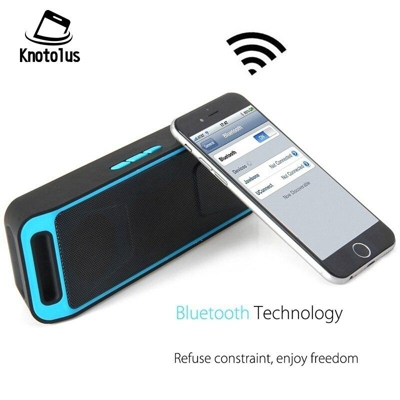 Knotolus Mini Wireless Bluetooth Speaker USB Flash TF FM Radio Stereo Super Bass MP3 Player Outdoor HIFI Sound Box For iPhone