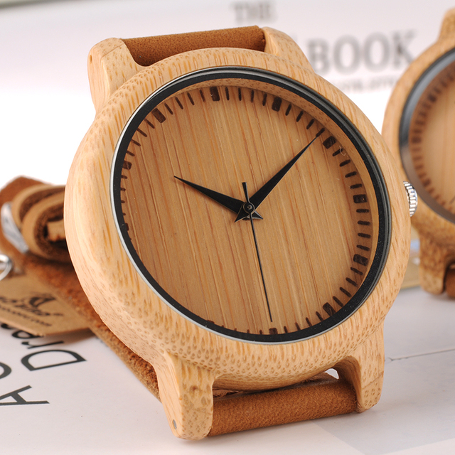 BOBO BIRD Brand Design Women Wooden Bamboo Watch Leather Strap Quartz Watches for Women Drop Shipping 3
