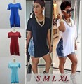 Hot 2017 Women Shirt Dress Sexy Club Side Split Slit Casual  Summer T-Shirt Dresses Outfit Vestidos Plus Size 5 Colors