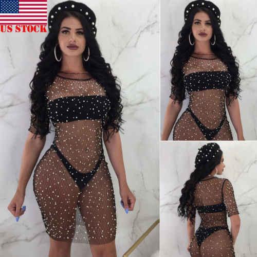 7596486a837 Sexy Women Summer Beach Dress Lace Crochet Bikini Cover Up Swimwear Bathing  Suit