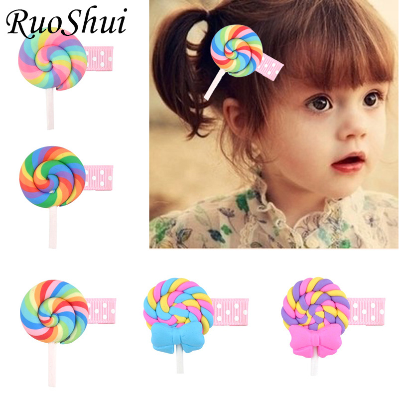 New Design Korean Cute Girls Hairpins Polymer Clay Stereo Cartoon Biscuits Candy Hair Clips Child Barrette Kids Hair Accessories