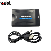 EDAL 1080P Scart To HDMI Converter HDMI To Scart Audio Video Adapter For HDTV Sky Box