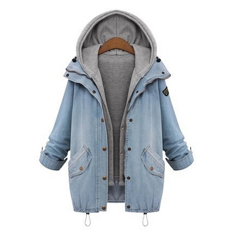 Popular Women Denim Jacket with Hood-Buy Cheap Women Denim Jacket