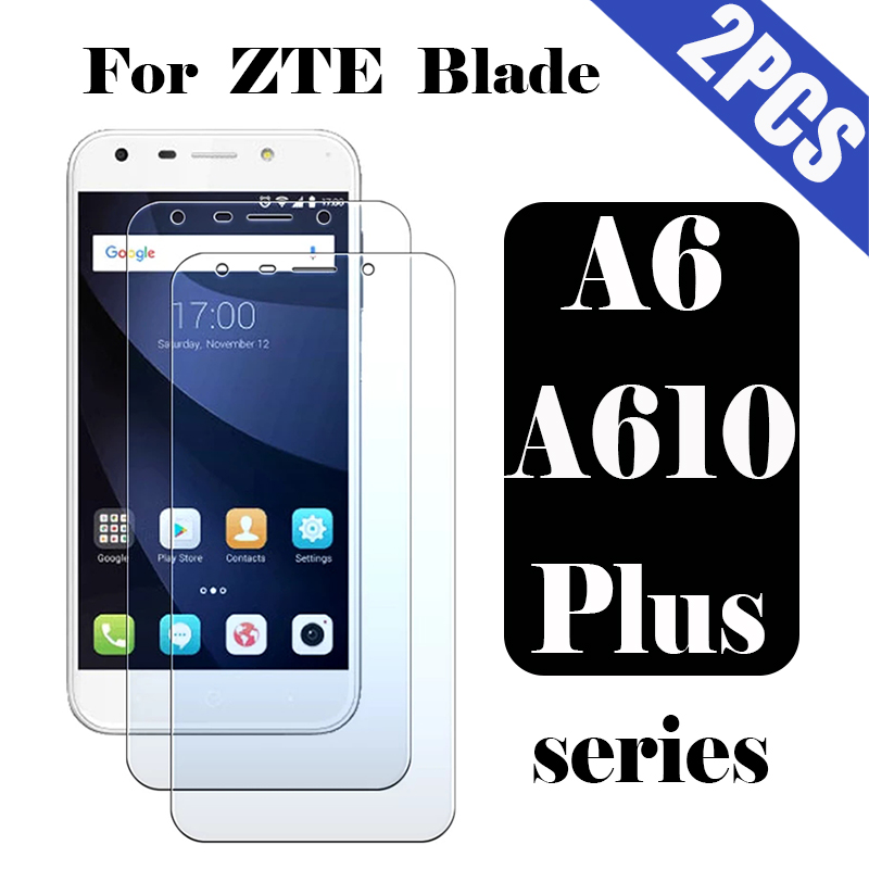 Protective glass for <font><b>ZTE</b></font> <font><b>Blade</b></font> a6 a610 plus film tempered glas <font><b>a610plus</b></font> a 610plus 9h screen protector protection 6a 2pcs tremp image