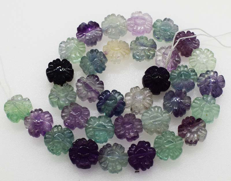 flourite carved flower   loose 12mm beads nature beads for making jewelry necklace 14inch FPPJ wholesaleflourite carved flower   loose 12mm beads nature beads for making jewelry necklace 14inch FPPJ wholesale
