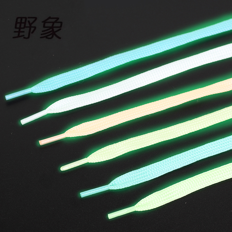 Luminous Shoelace sports glow in the dark shoe lacing reflective colorful fluorescent shoe lace 5 color Optional shoelaces white