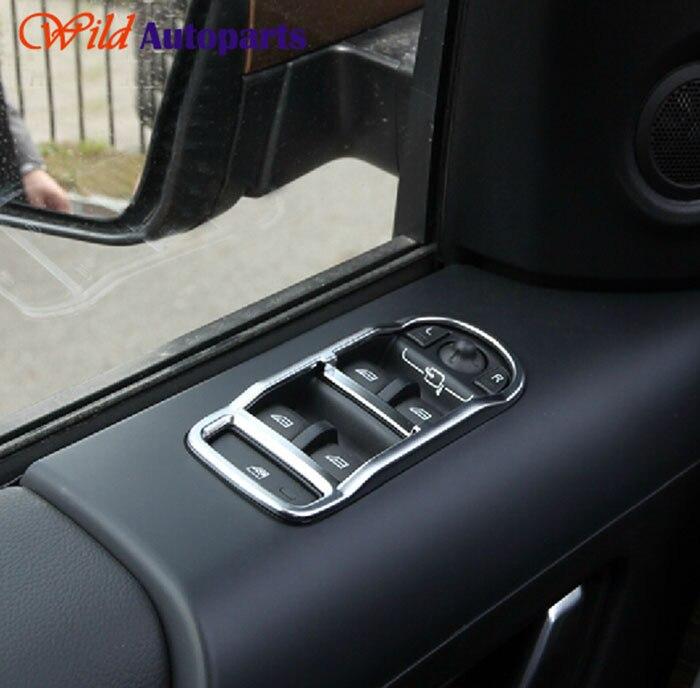 4pcs Matte Chrome Inner Door Window Switch Panel C...