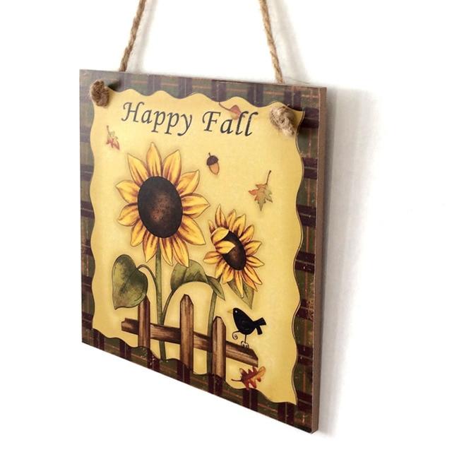 Home Decoration Supplies Wooden Plaque Harvest Sunflower Hanging ...