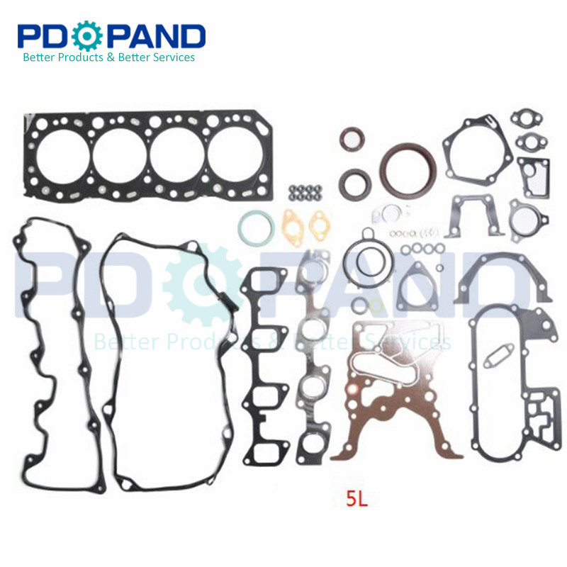 <font><b>5L</b></font> Full <font><b>Engine</b></font> Overhaul Rebuilding Gasket Set 04111-54280 for <font><b>TOYOTA</b></font> Hiace III II /Hilux II /DYNA 2986cc 3.0L image