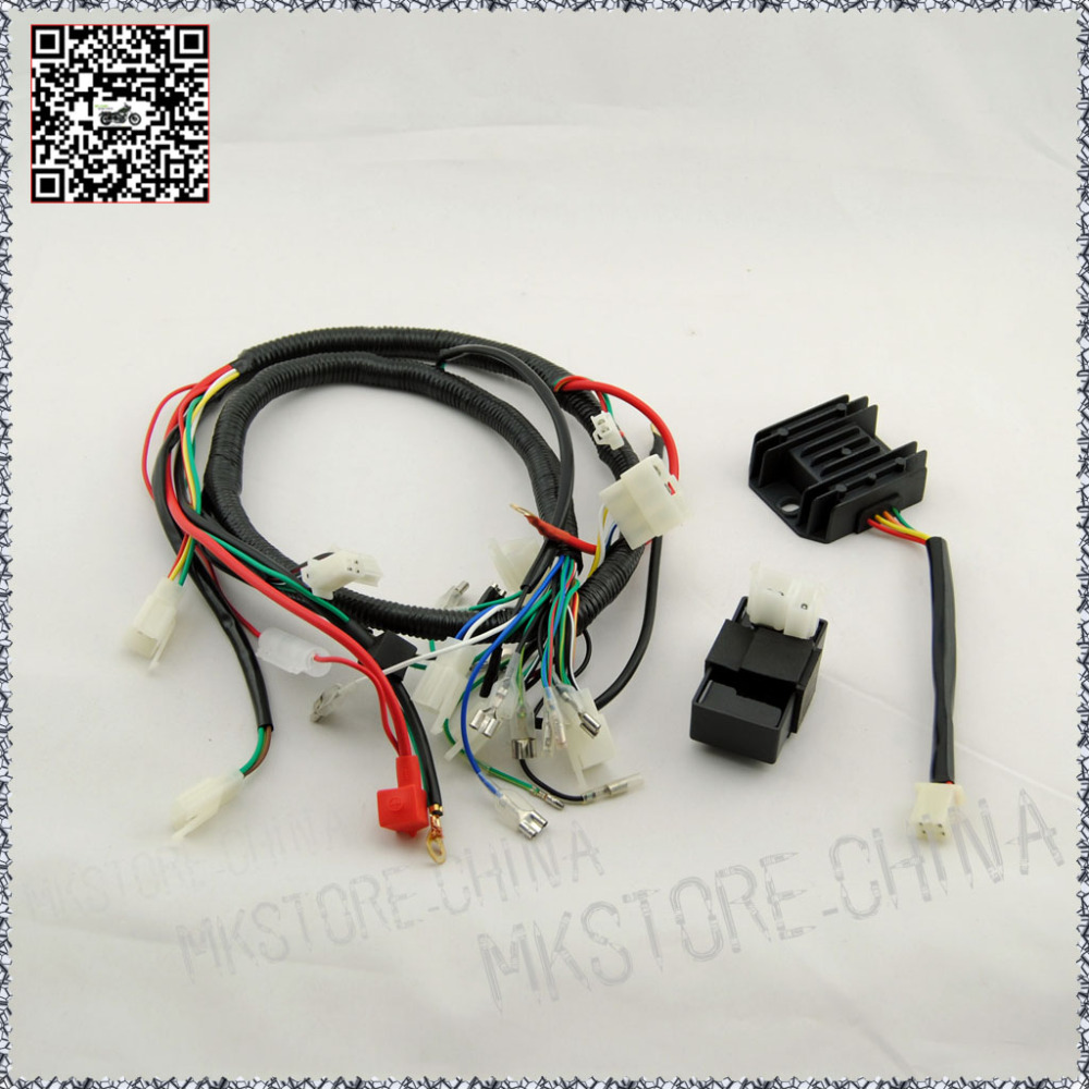 250cc Key Barrel Quad Wiring Harness 200 Chinese Electric Wire Shipping Rectifier Cdi Start Loncin Zongshen Ducar