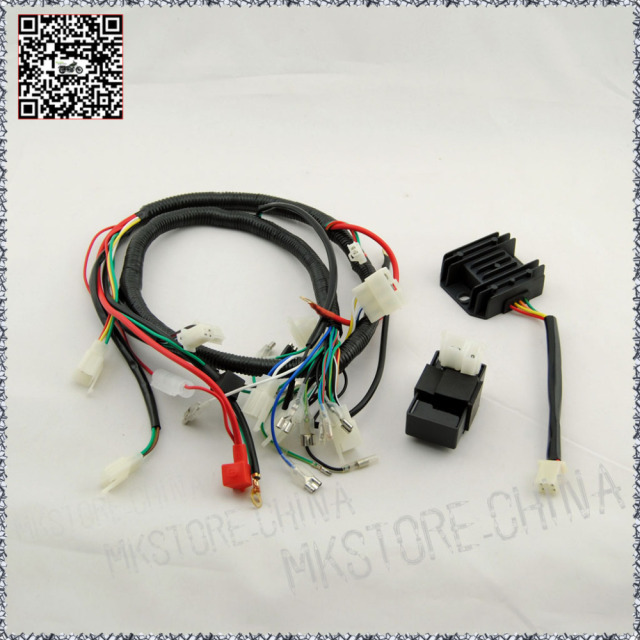 250cc rectifier cdi quad wiring harness 200 250cc chinese electric rh aliexpress com Wiring Harness Diagram 250cc scooter wiring harness