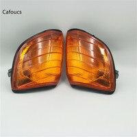 Cafoucs Turn Signal Yellow Indicator Corner Light blinker Lamp For Mercedes Benz W140 S Class S320 S350 S420 S500 S600 1991 1998