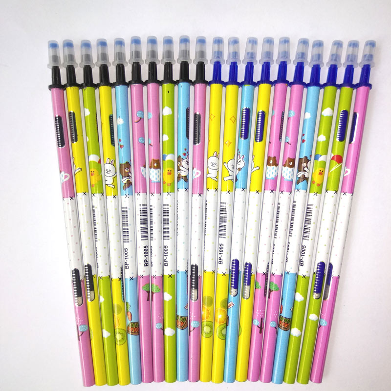0 5mm Erasable Pen Refill 20Pcs Set Gel Pen Rod Magic Erasable Pen Blue Black Ink Office School Stationery Writing Tool Gift in Gel Pens from Office School Supplies