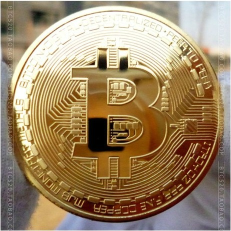 Bitcoin Gold Plated Pure Copper Coin Crafts 2014 Gift Oz 999 Fine Silver Physical