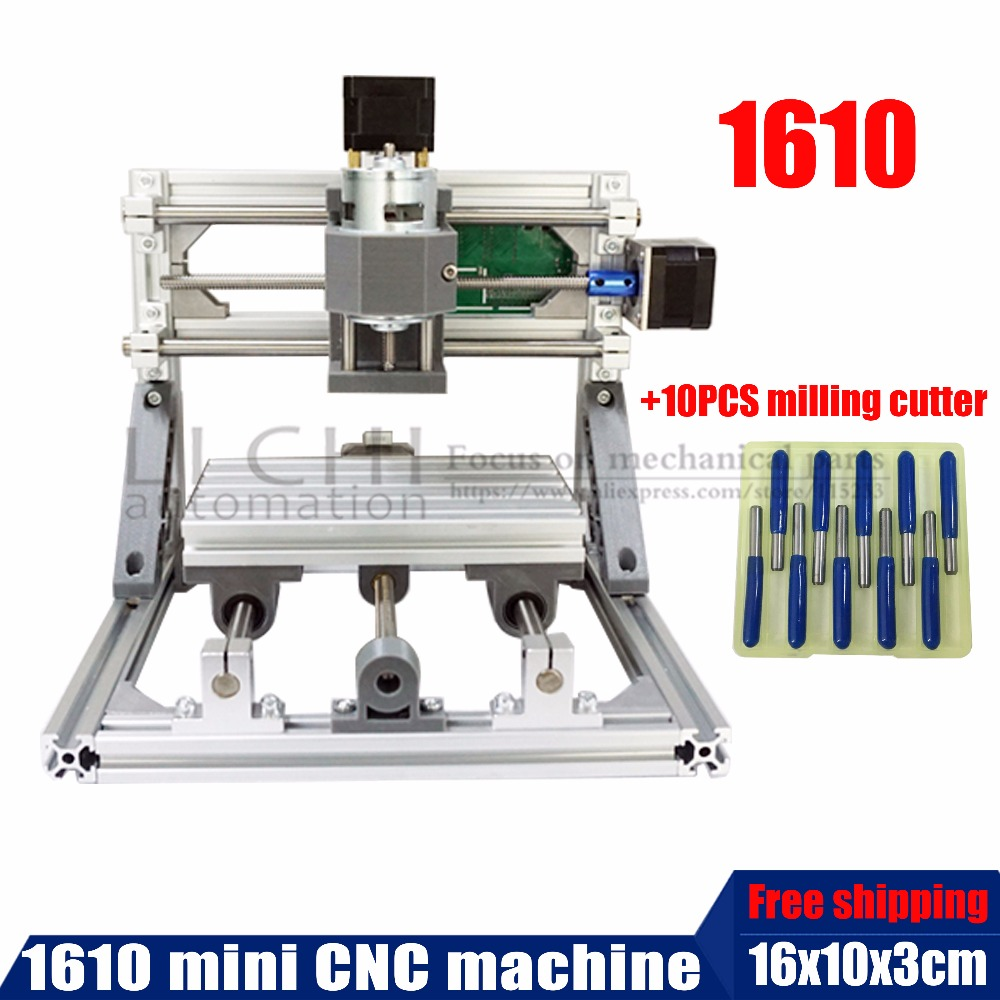 1610 mini CNC machine, working area 16x10x3cm ,3 Axis Pcb Milling machine, Wood Router, cnc router for engraving machine cnc pcb router cnc router desktop for sale