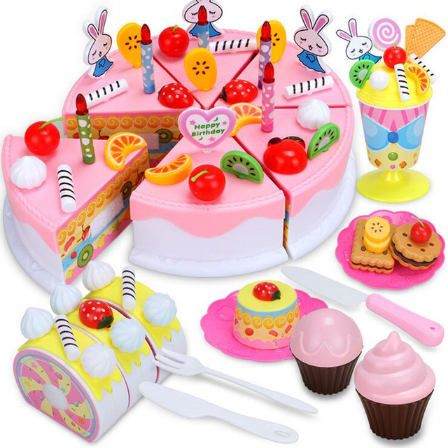 Diy Fruitcake 87pcs Set Cookware Set Fruit Birthday Cake Children