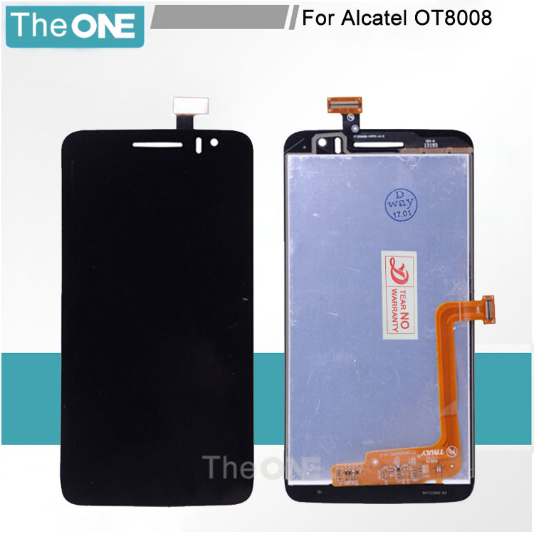 Tested Replacement LCD Display Touch Digitizer Screen Assembly For Alcatel OT8008 OT-8008A 8008W 8008D 8008X 8008 аксессуар чехол lenovo ideatab s6000 g case executive white