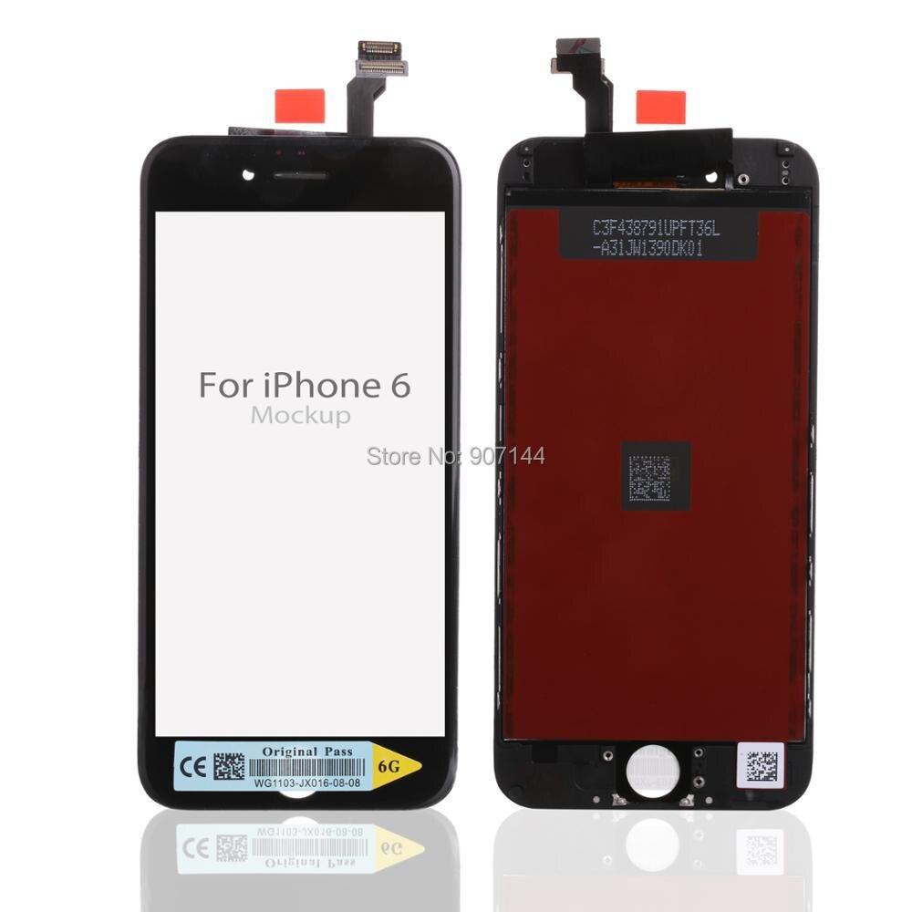 imágenes para 20 UNIDS/LOTE Para iPhone 6 Pantalla LCD Con Pantalla Táctil Digitalizador Asamblea 100% Pixel No Muertos Envío Gratis