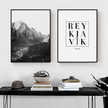 ZeroC Posters And Prints REYKJAVIK Iceland Wall Art Canvas Painting Mountain Pictures For Living Room Nordic Decoration