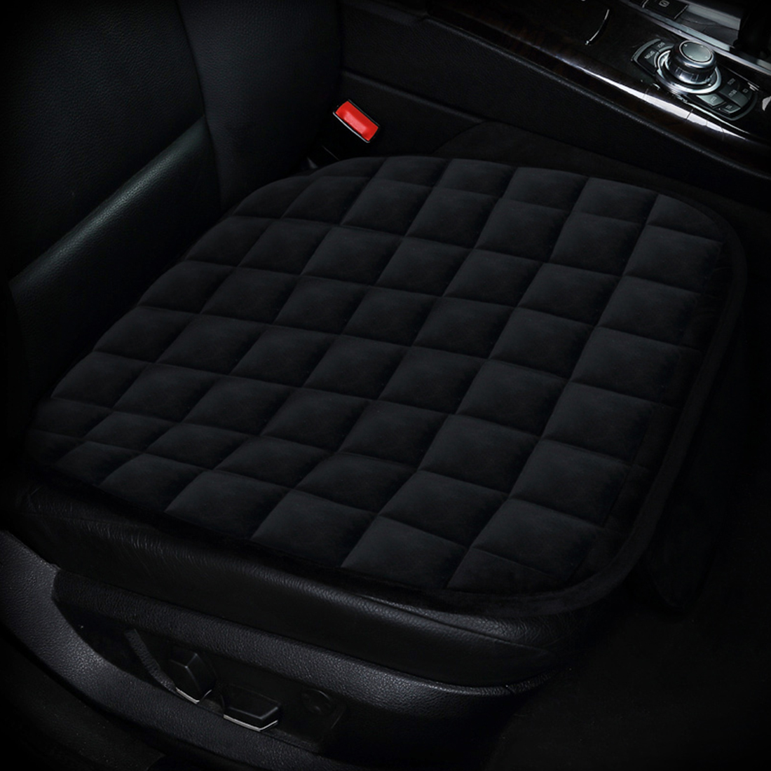 Dewtreetali Single Velvet Front Car Seat Cover Protector Pad Breathable Winter Warm Seat Cushion for VW PEUGEOT AUDI BMW LADA