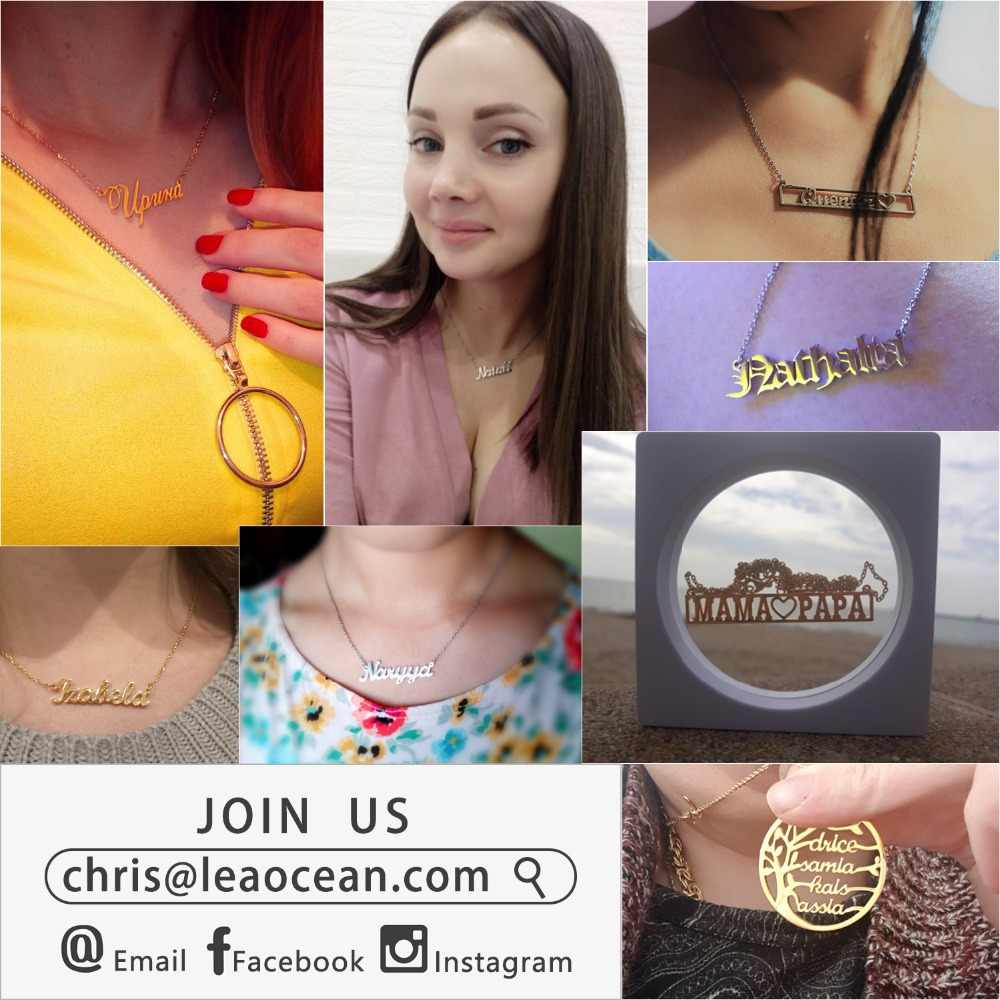 Name Necklace Plate Jewelry & Custom Personalized Necklace  Curban Chain Stainless Steel Gold Color Choker Necklaces For Women