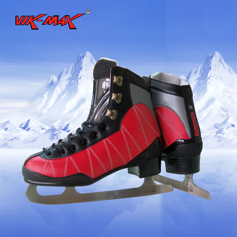 VIK-MAX adult men ice hockey skate shoes all size in stock best seeling black lace-up Ice Skates Shoes vik max hot sale cheap adult white figure hockey skate shoes ice skate shoes with high carbon steel ice blade