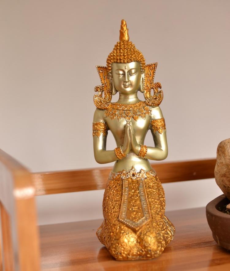 Statue de bouddha de style sud-est asiatique, décor à la maison d'ornement, arts et artisanat de la thaïlande, décoration, cadeaux de mariage
