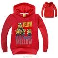Hot sale Children Clothing Boys Outerwear Minions Hoodies Sweatshirts Girls long sleeve sweater Kids Terry Cotton Topwear -1620