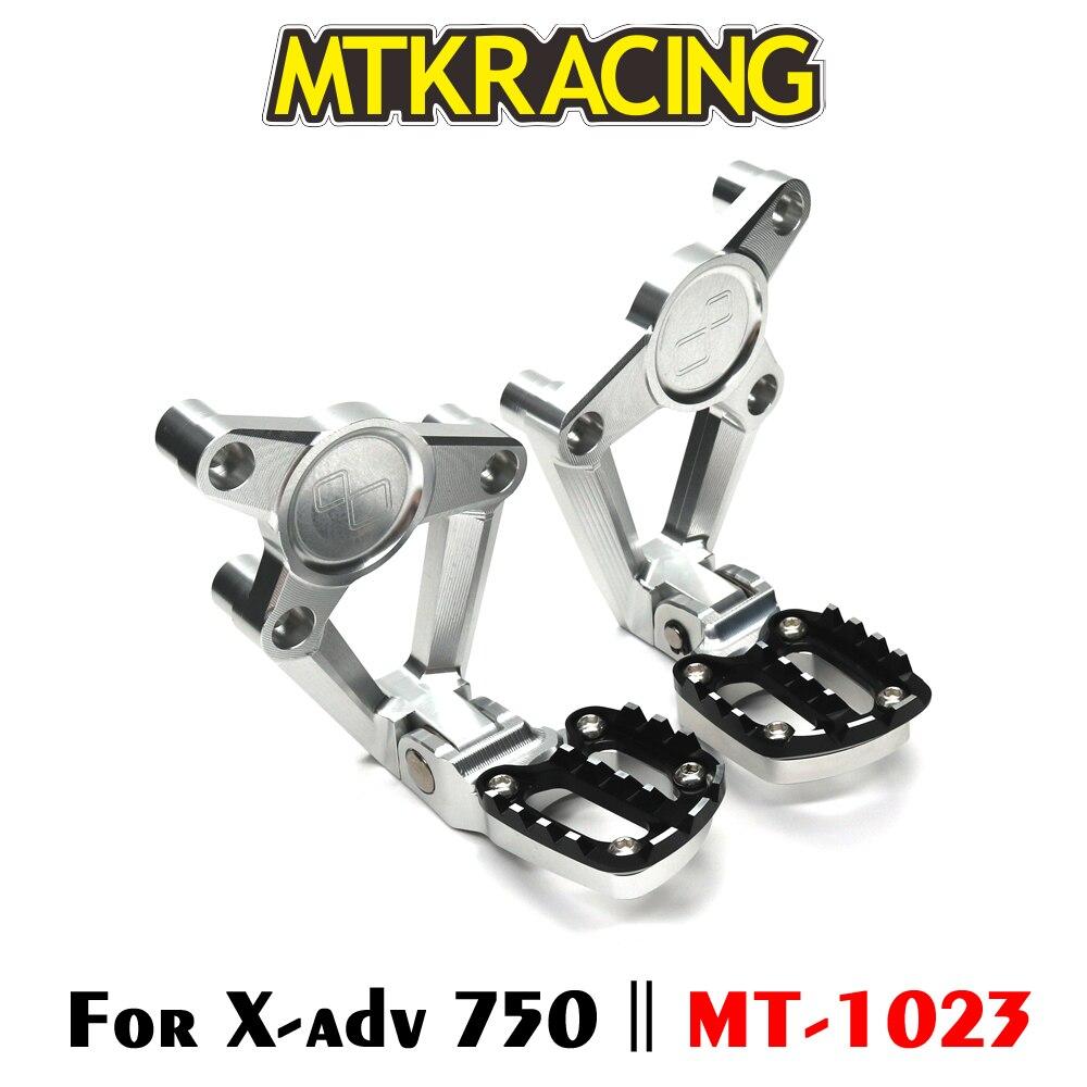 MTKRACING аксессуары для мотоциклов HONDA XADV 750 XADV750 XADV-750 2017 2018 складной сзади подножки ног пассажира