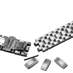 Image 2 - PEIYI watchband 19mm replacement metal bracelet silver stainless steel strap mens and female watch chain for Tissot T065
