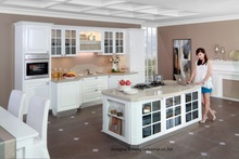 PVC/vinyl kitchen cabinet(LH-PV032)