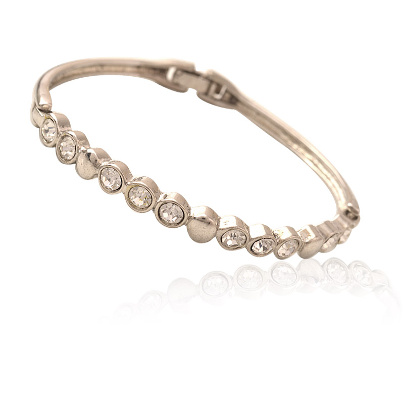 Классические хрустальные горный хрусталь теннисный браслет манжета браслет круглой формы мода ювелирных изделий подарок для женщин