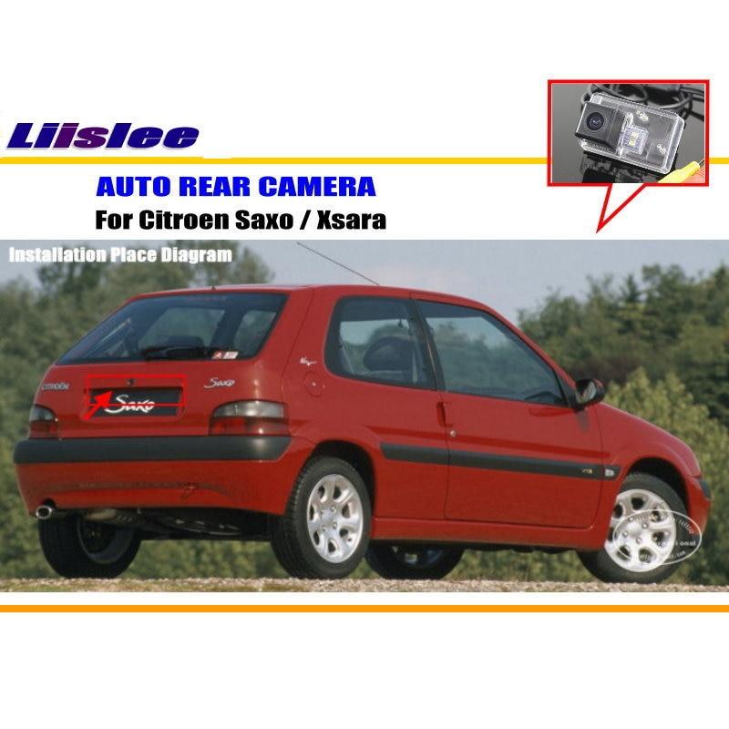 Liislee автомобиля Обратный Парковка заднего вида Камера для Citroen Saxo Xsara/Car резервного копирования amera/HD CCD RCA/ поворотника Камера