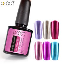 GDCOCO Metall neglelakk Gel Nail Art Soak Off UV LED Glitter Gel Polish Lacquer Gel Lakk Poly Canni Gel Paint Polygel