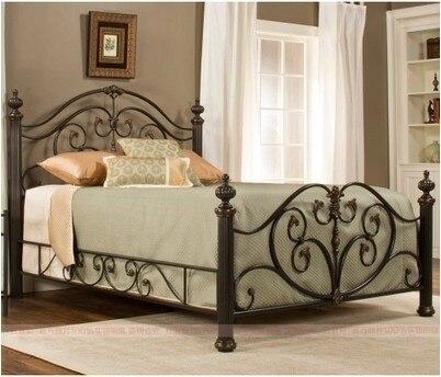 Retro continental hierro cama de princesa cama camas doble - Cama doble para ninos ...