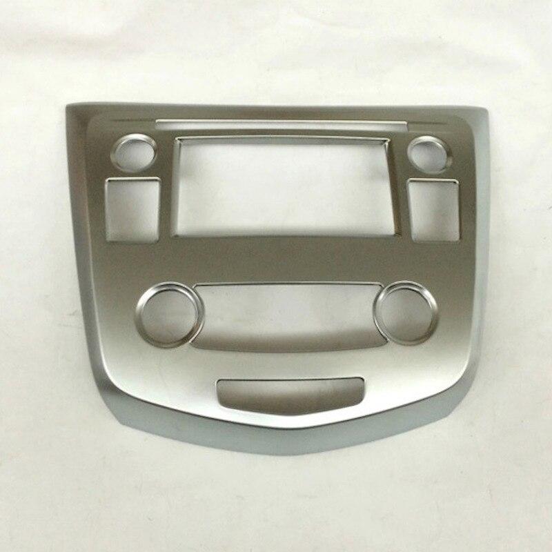 Console centrale Contrôle Navigation Panneau Image de Couverture Intérieur ABS Chrome Versions Pour Nissan Qashqai J11 2015 2016 Accessoires De Voiture