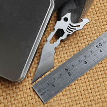 Piranha EDC Knife N690 Steel Multi-function Small Straight Riding Defense Tools Paw Cutter