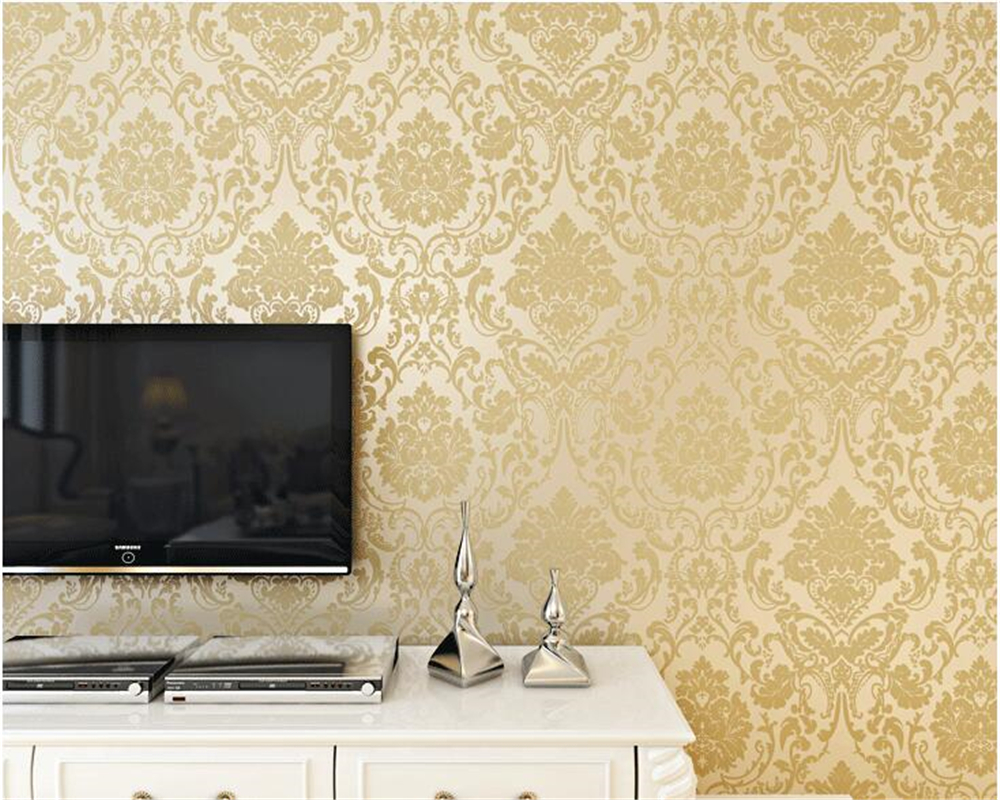 beibehang European papel de parede Scarlet Nonwovens Wallpaper Damascus Wall paper Living Room Bedroom TV Wall Background tapety beibehang european sound non woven northern damascus bedroom living room tv setting wall paper wallpaper for bedroom living room