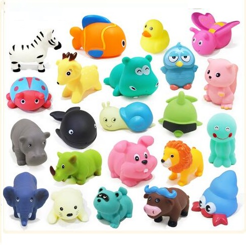 10pcs Lot Baby Bath Toys Soft Rubber Animals Car Boat Whale Duck Water Spraying Bathroom For Toddlers Children In Toy From Hobbies On