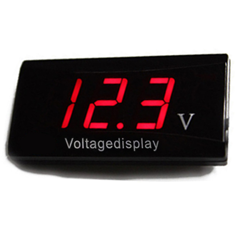 12V Car Mini Voltage Voltmeter LED Digital Display For Auto Motorcycle Volt Meter Red/Blue/White Color Car Electronic led automotive car electronic clocks watchesthermometer voltmeter luminous digital clock white dual temperature reverse display