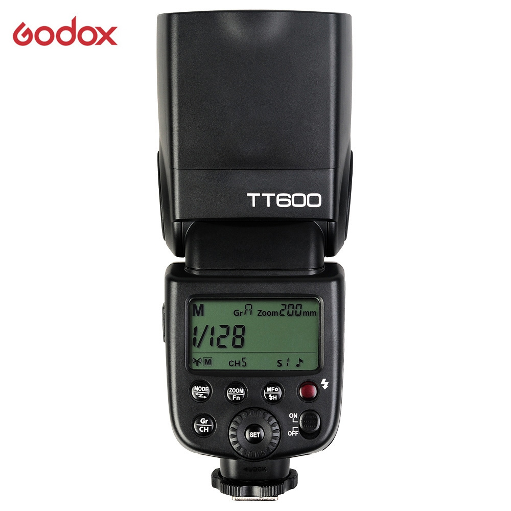 Original Godox TT600 2.4G Wireless GN60 Master/Slave Camera Flash Speedlite for Canon Nikon Pentax Olympus Fujifilm spash sl 685c gn60 wireless master slave flash light ttl speedlite for nikon lcd screen cameras flash adjustable fill light