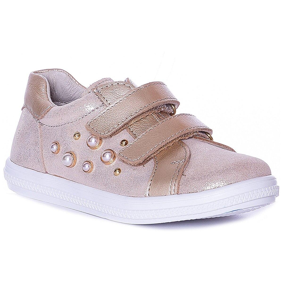 KOTOFEY enfants chaussures décontractées 10813962 baskets chaussures de course pour enfants or sport filles en cuir