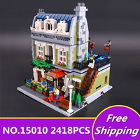 NEW Lepin 15010 Expert City Street Parisian Restaurant Model Building Kits Blocks Funny Children Toys Compatible
