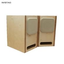 IWISTAO HIFI متاهة 4 بوصة مجموعة كاملة فارغة المتكلم الضميمة الحور الخشب الرقائقي أو خشب متين 15 مللي متر سمك المجلس