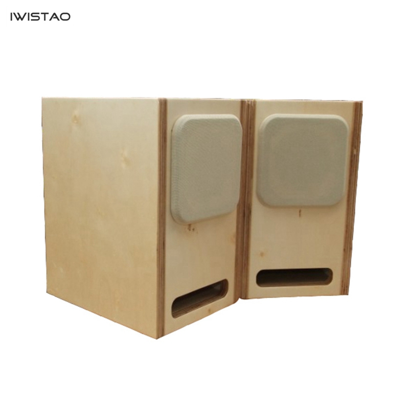 IWISTAO HIFI Labyrinth 4 Inch Full Range Empty Speaker Enclosure Poplar plywood or Solid Wood 15mm Thickness Board